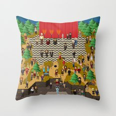 Super Twin Peaks Throw Pillow