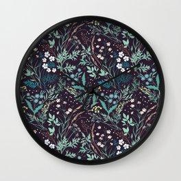 Meadow pattern. Wall Clock