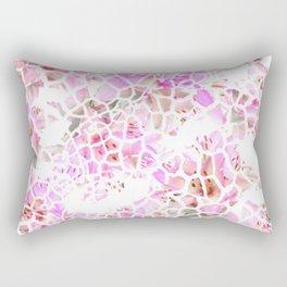 Giraffe Flower Print Rectangular Pillow