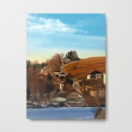 Road upon the river | landscape photography Metal Print