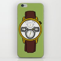 jessica lange iPhone & iPod Skins featuring A. Lange by Illustrated by Jenny