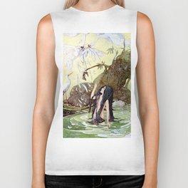 """The Marsh King's Daughter"" Fairy Art by Anne Anderson Biker Tank"