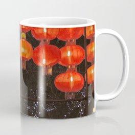Red Chinese lanterns at night Coffee Mug