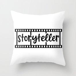 Storyteller Photographer 35 MM Film Photography Camera Photo  Throw Pillow