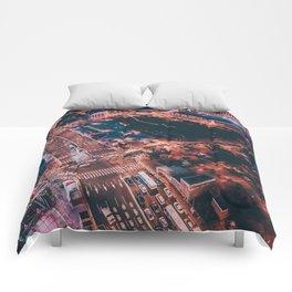 City night lights Comforters