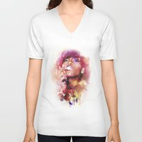 rihanna V-neck T-shirts featuring Rihanna by turksworks