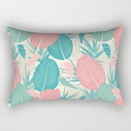 Spring Leaf Background Rectangular Pillow