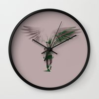 winchester Wall Clocks featuring Dean Winchester  by Teya Ross