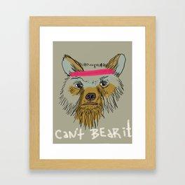 Can't bear it! Framed Art Print