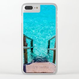 Stairway to Refreshment Clear iPhone Case