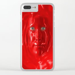Red liquid Clear iPhone Case