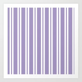 Lavender Wide Small Wide Stripes Art Print