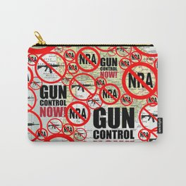 No Guns, Gun Control Now on Map Carry-All Pouch