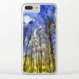 Fantasy Art Forest Clear iPhone Case
