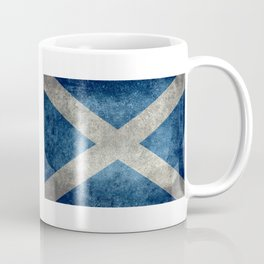 Scottish Flag - Vintage Retro Style Coffee Mug