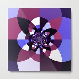 Purple Magenta Periwinkle Kaleidoscope Mangala Metal Print