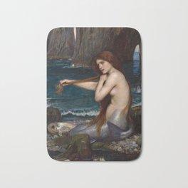 Mermaid by John William Waterhouse, 1900 Bath Mat