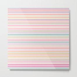 Sping Bloom Stripes Metal Print