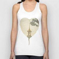 asia Tank Tops featuring Asia Rain by Eva Nev