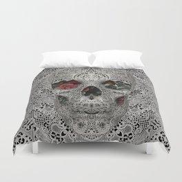 Lace Skull 2 Duvet Cover