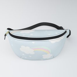 Unicorn rainbows and clouds pattern Fanny Pack