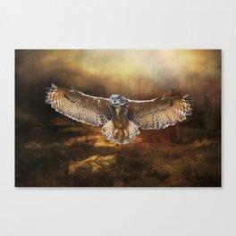 Owl Flight Canvas Print