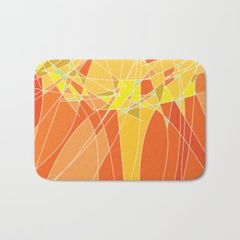 Abstract geometric orange pattern, vector illustration Bath Mat