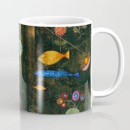 'Fish Magic No. 2' Aquatic, Celestial, Floral, Earthly Entities Portrait by Paul Klee Coffee Mug