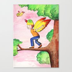 Flying Like A Bird Canvas Print