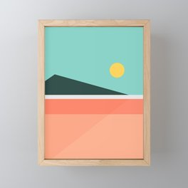 Geometric Landscape 15 Framed Mini Art Print