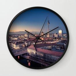 Golden Berlin Wall Clock