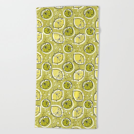 Atomic Lemonade_Green Beach Towel