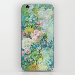 Abstract pastel spring floral iPhone Skin