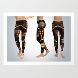 Leggings gold bars Art Print