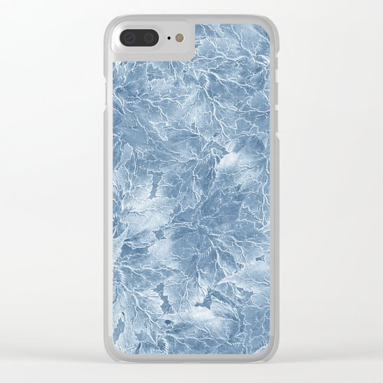 Frozen Leaves 7 Clear iPhone Case