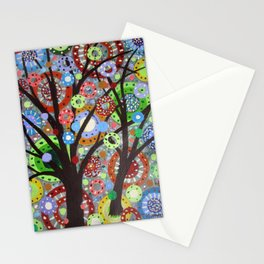 Circles abstract -3 Stationery Cards