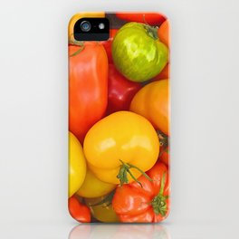 Cheerful Tomatoes - colorful quote iPhone Case