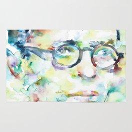 JEAN-PAUL SARTRE - watercolor portrait Rug