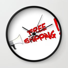 Free Shipping Megaphone Wall Clock