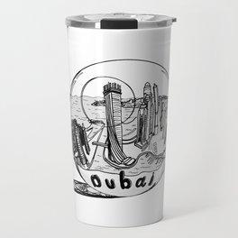 Dubai in a glass bowl . Dubai ( https://society6.com/vickonskey/collection ) Travel Mug