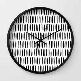 Classy Handpainted Stripes Pattern, Scandinavian Design Wall Clock