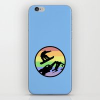 snowboarding iPhone & iPod Skins featuring snowboarding 2 by Paul Simms