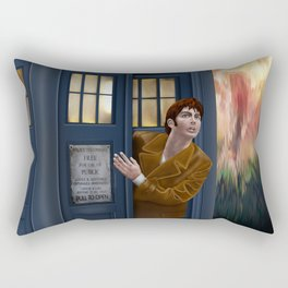 10th Doctor Shockface Rectangular Pillow