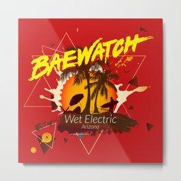 Baewatch - Wet Electric Metal Print