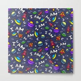 I Am Spaceless Metal Print