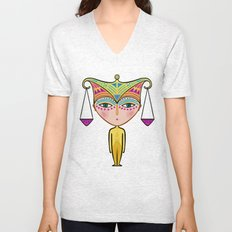 libra zodiac sign Unisex V-Neck