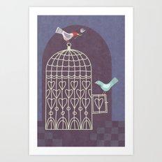 Leaving the Birdcage Art Print