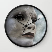 doll Wall Clocks featuring Doll by Anne Seltmann