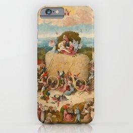 Bosch, Hieronymus - The Haywain Triptych iPhone Case