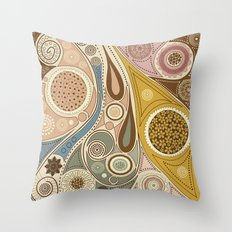 Boho Stylized Floral Pattern 7 Throw Pillow